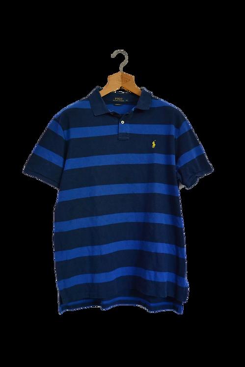 Ralph Lauren Blue Striped Polo XXL