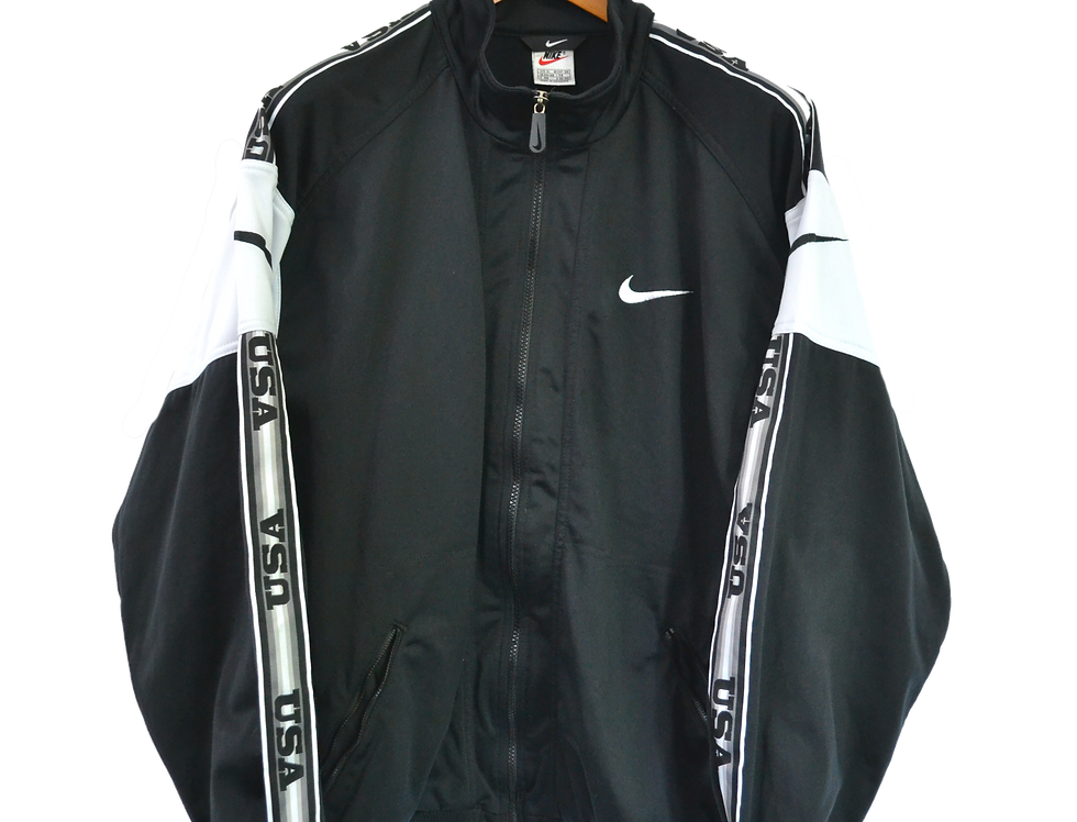Nike USA 90's Track Jacket Black M