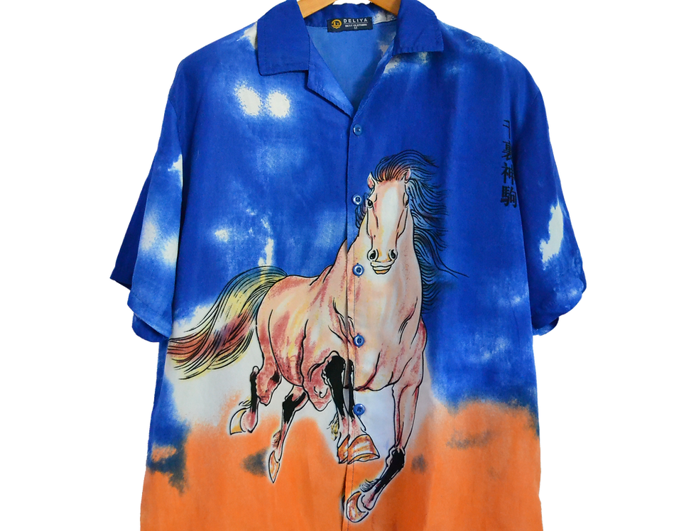 Crazy Ass Horse Running Towards You He Just Wants To Play Graphic Shirt M