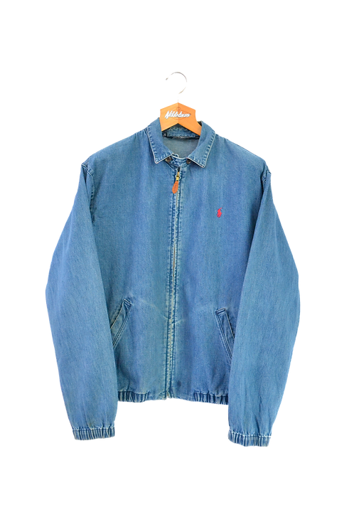 Ralph Lauren Harrington Jacket Washed Denim M
