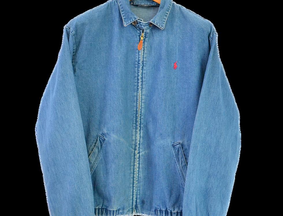 Ralph Lauren Harrington Jacket Washed Denim M