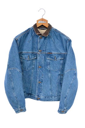 Marlboro Classics 90s Denim/Leather Collar Jacket M