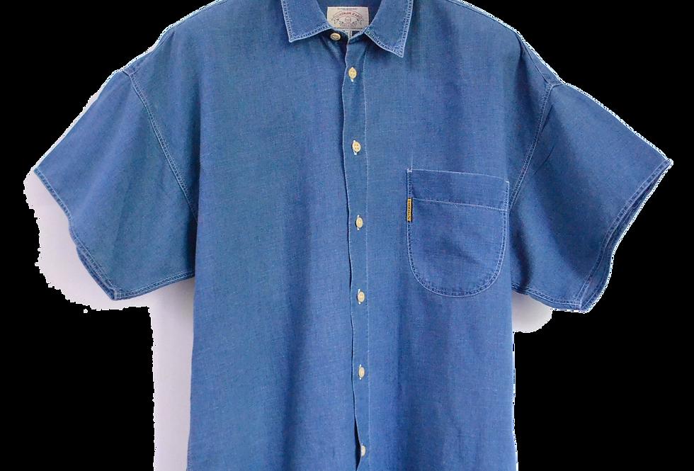 Armani Jeans Short Sleeve Denim Shirt XL