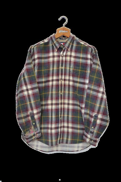 Tommy Hilfiger 90s Corduroy Checkered Shirt L