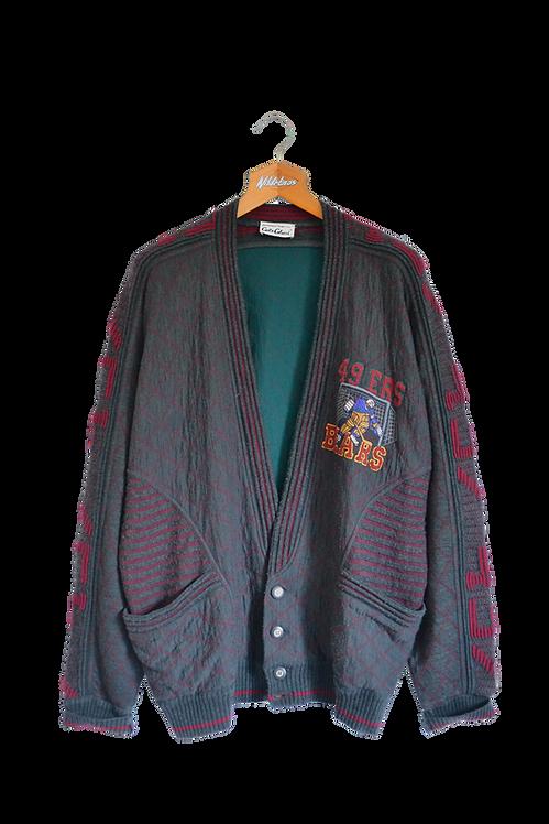 Carlo Collucci 49ers Bears Hockey Knitted Jacket XXXL