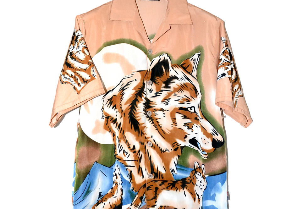 Graphic Shirt Wolf & Moon Saturated M
