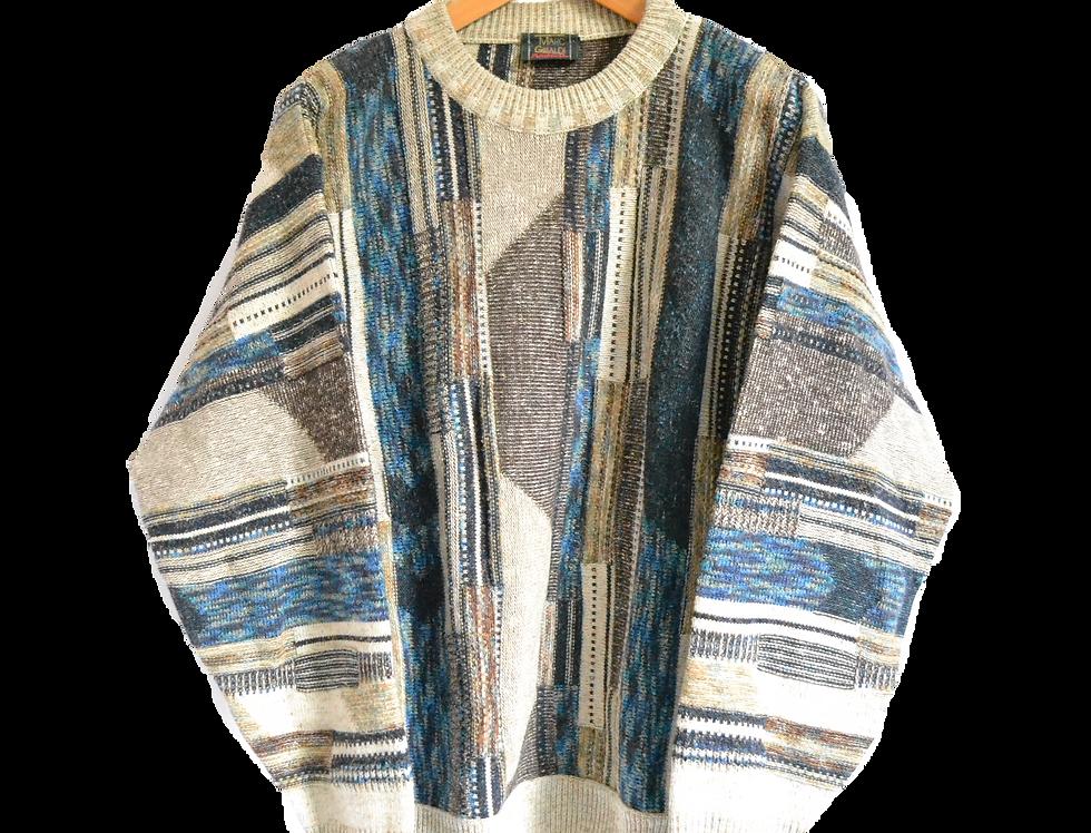 Merino Wool Knitted Jumper XL