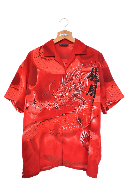 Red Dragon Graphic Shirt L