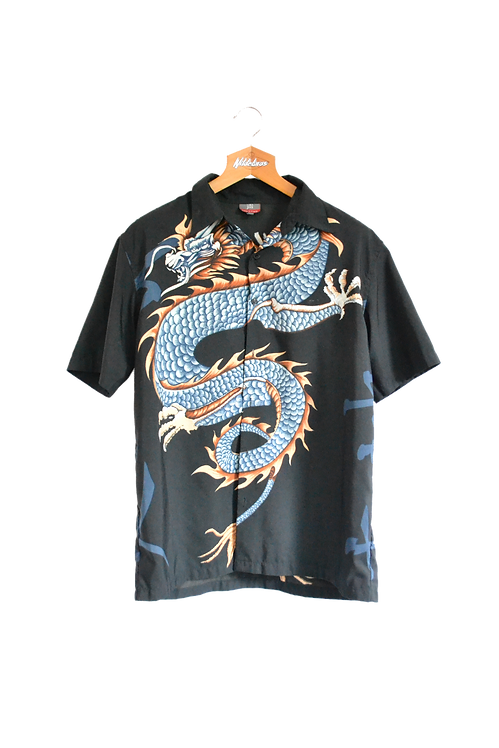 Chinese Style Dragon Graphic Shirt L