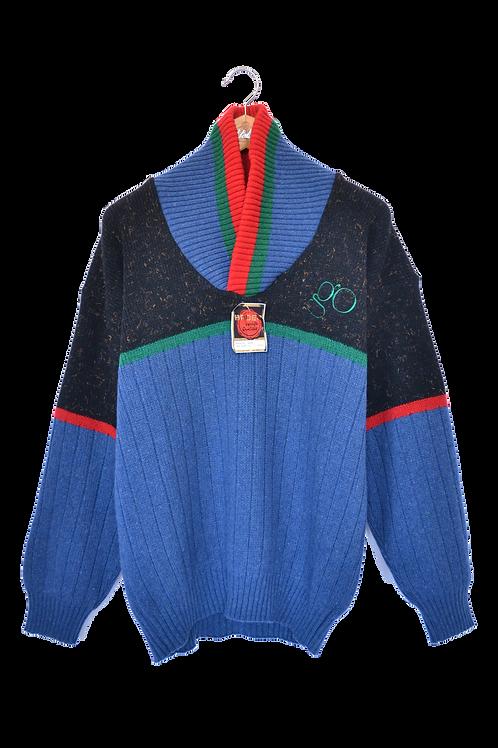Deadstock Wool 80s knitted Jumper L