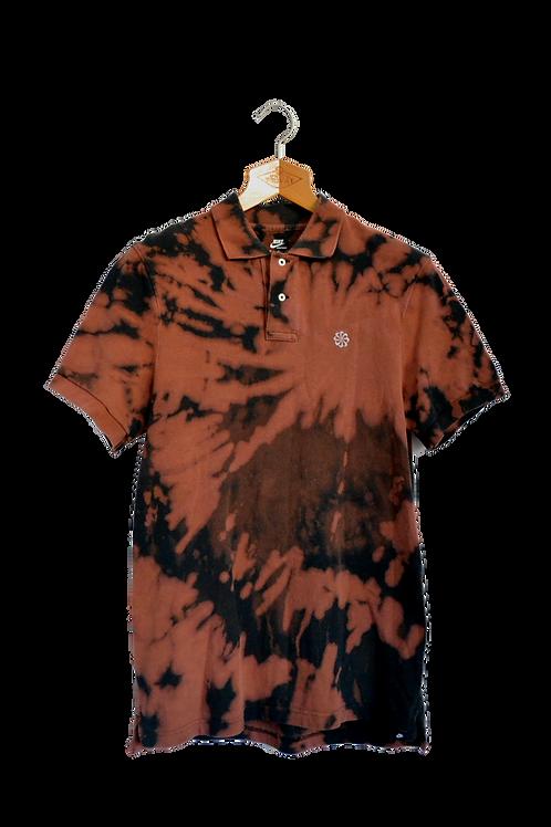Nike Swirl Logo Bleach Dyed Polo M