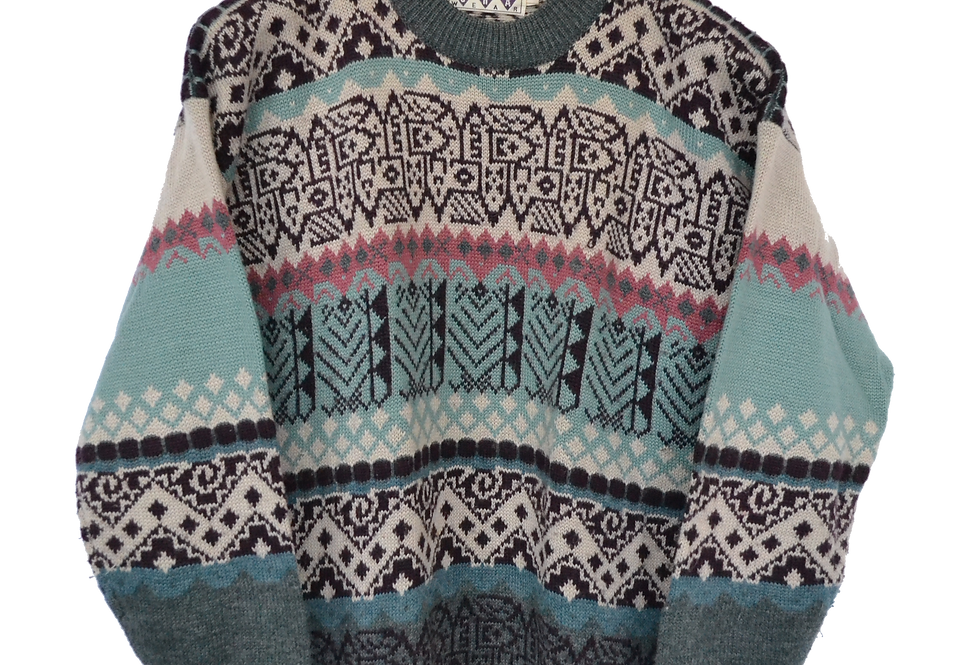 Icelandic Style Knitted Jumper S