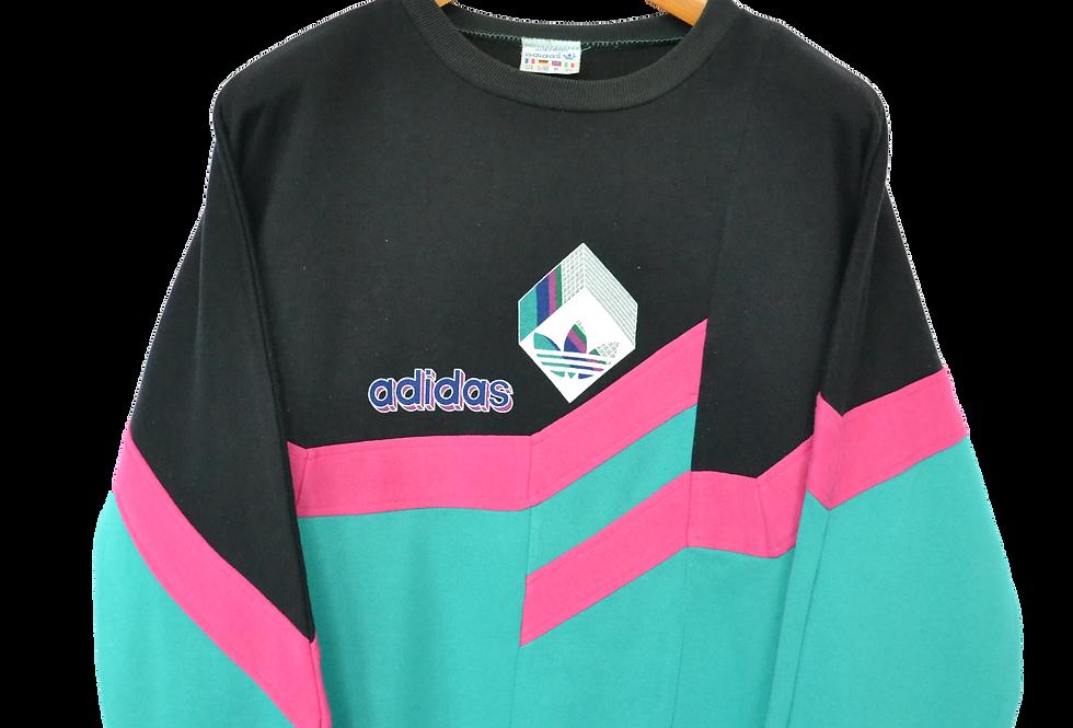 "Adidas 1989 ""Vaporwave"" Spellout Colourblock Sweatshirt M"