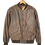 Thumbnail: 80s Natural Leather Shoulder Padded Jacket S
