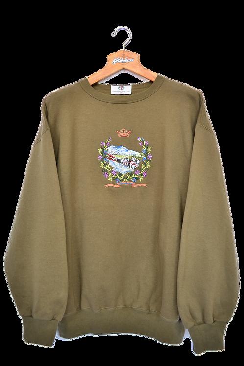 80's International Polo Line Sweatshirt XXL