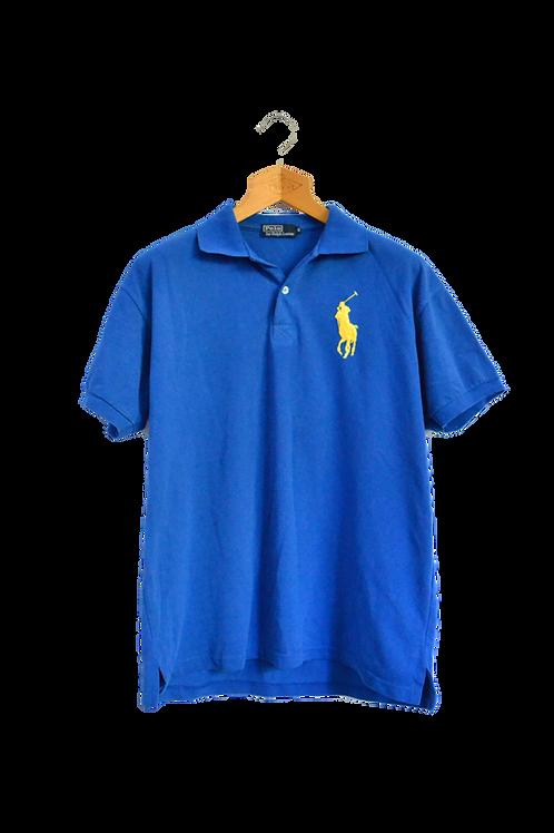 Ralph Lauren Blue'n Yellow Logo Polo XL