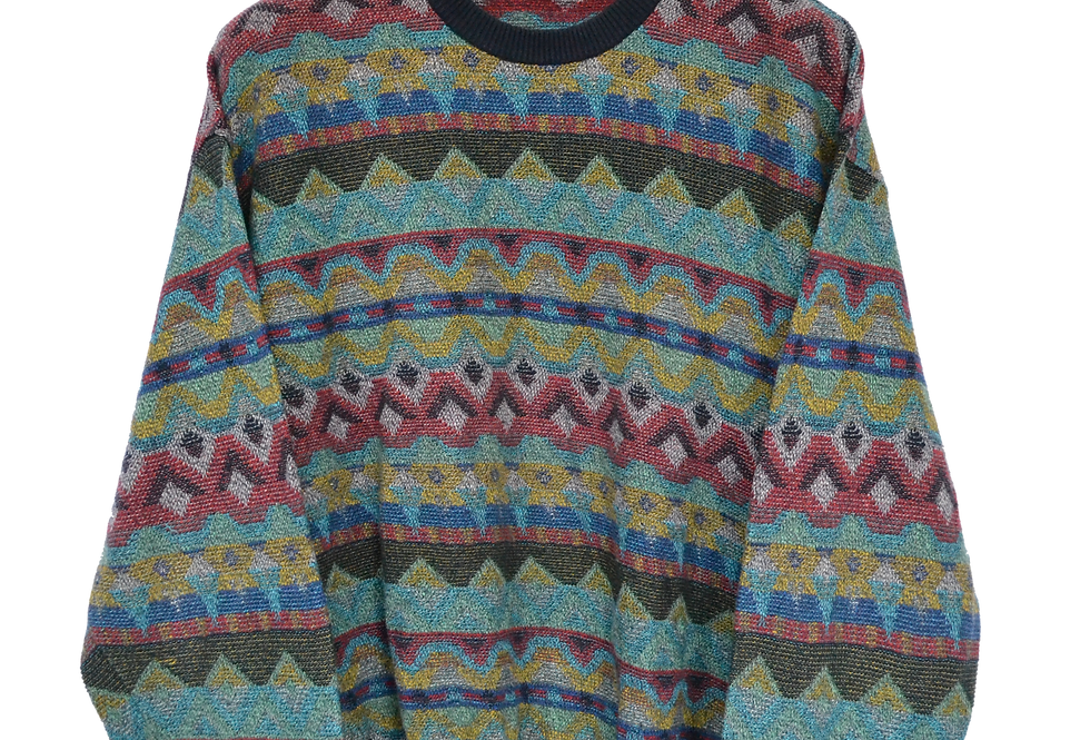 Multicoloured Knitted Jumper XXL