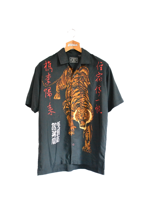 Chinese Style Tiger Graphic Shirt M