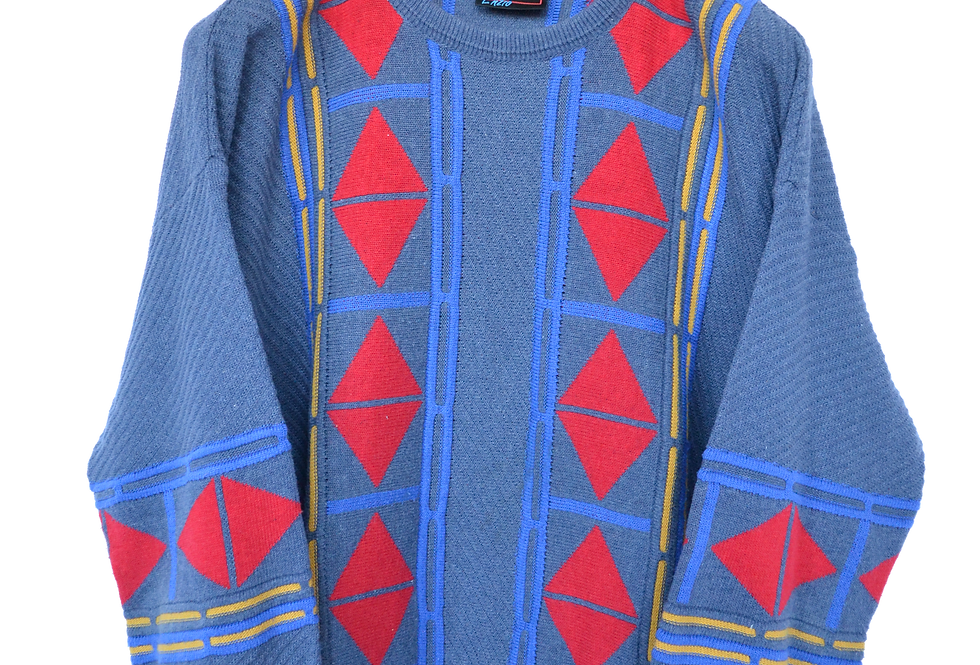 80s Abstract Knitted Jumper XL