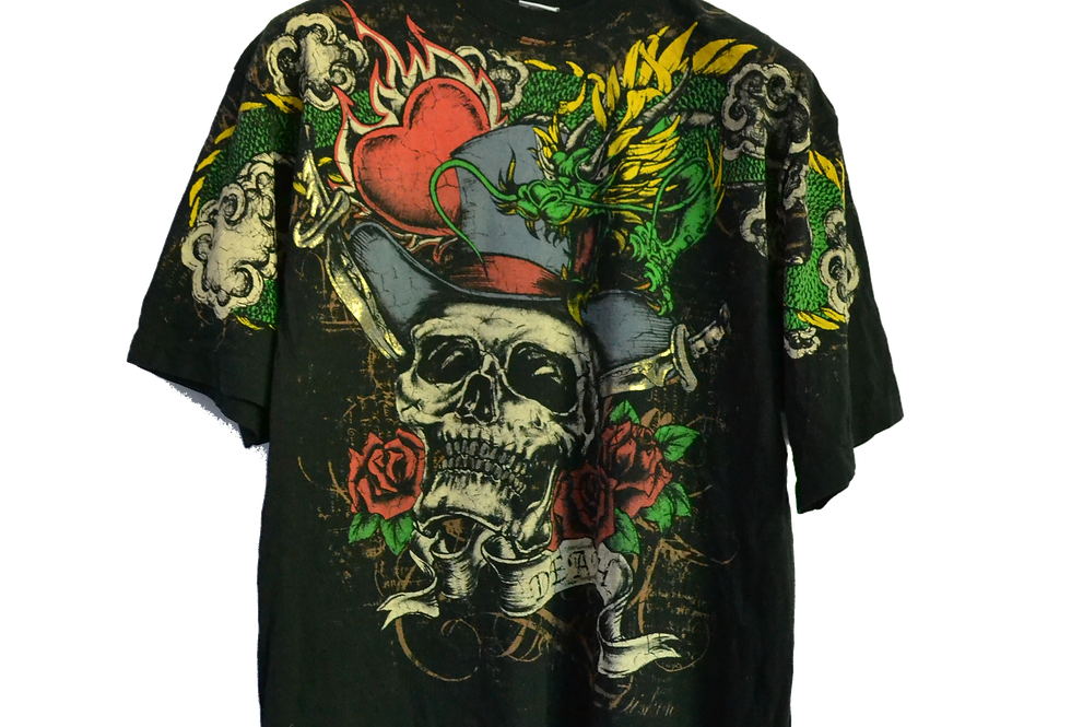 Tattoo Skull with Roses and Shit XL