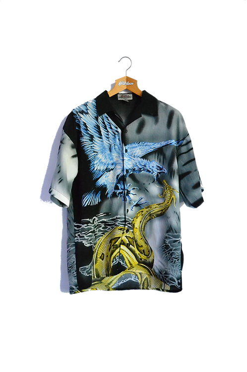 Phoenix fighting Snake Graphic Shirt XL