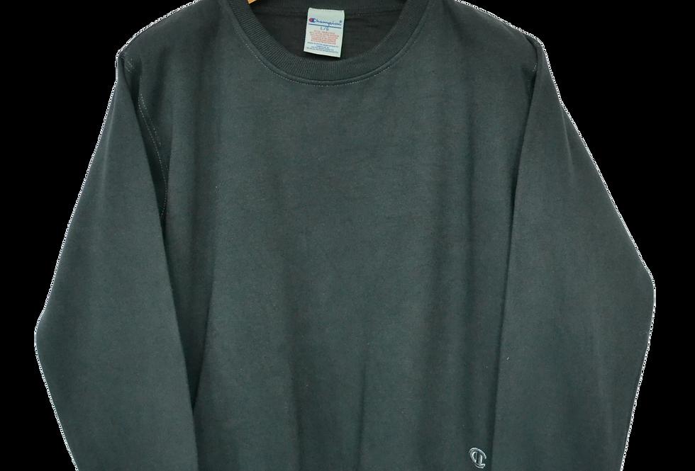 Champion 00's Charcoal Colourblock Box-fit Sweatshirt L