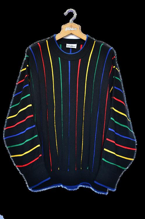 Carlo Colucci Wool Terryclot Rainbow Jumper XXL