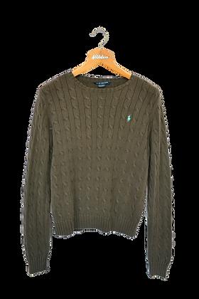 Ralph Lauren Cable Knitted Sweatshirt Brown L