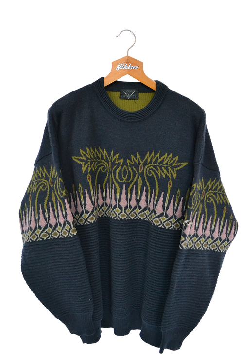 Charcoal Knitted 80s Crewneck XXL
