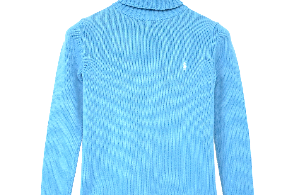 Ralph Lauren Knitted Turtle Neck Sky Blue XS