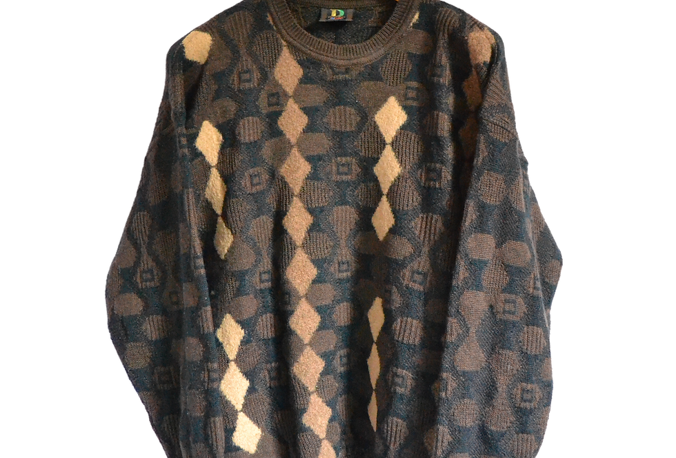Baffo Brown Knitted Jumper XXL