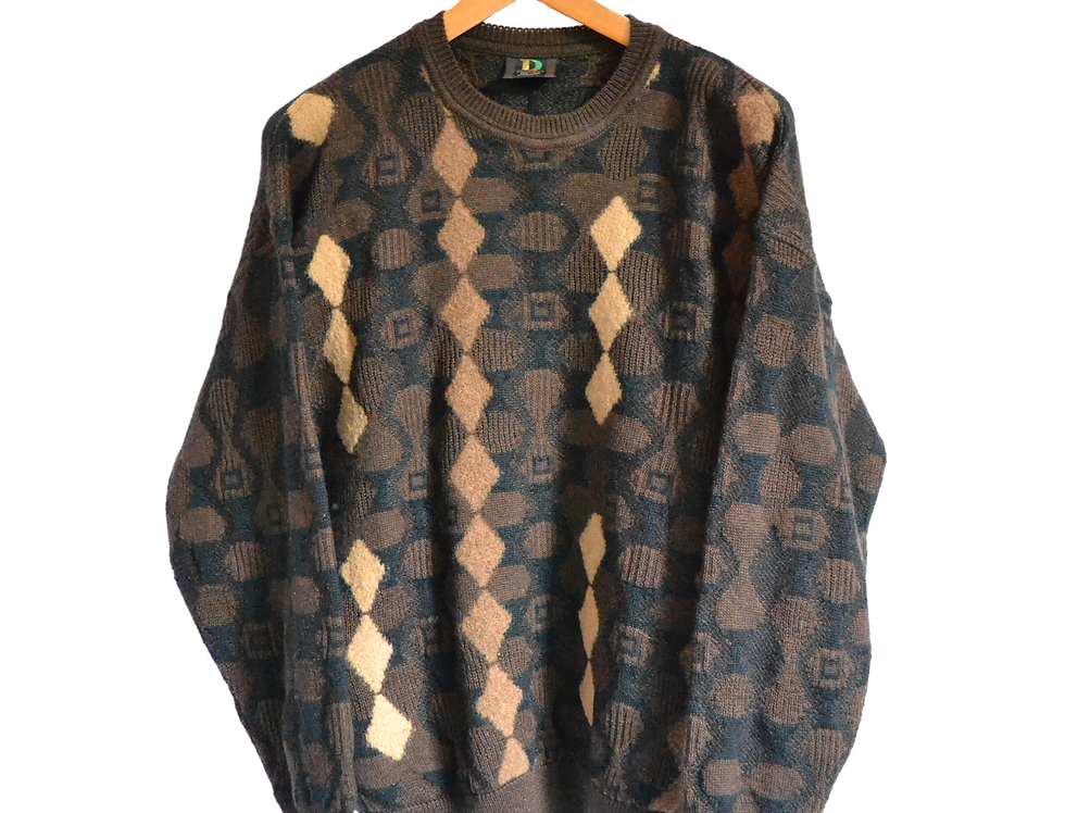 Baffo Brown Knitted Jumper XXL