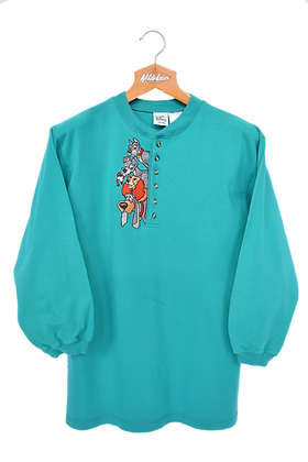 """The Disney Store """"Lady and The Tramp"""" 3/4 sleeves Longsleeve M"""