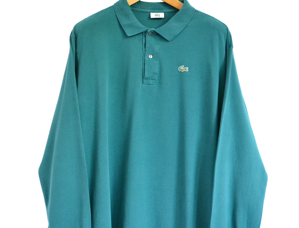 Lacoste Long Sleeved Polo Shirt Green XXL