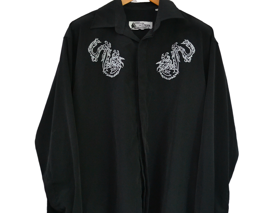 Black 'n White Graphic Shirt Long Sleeves XL