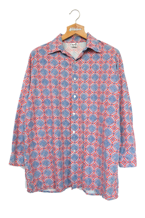 80s Graphic Collar Shirt M