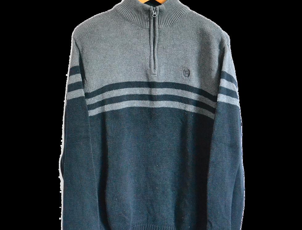 Ralph Lauren Chaps Knitted Sweatshirt Black/Grey L