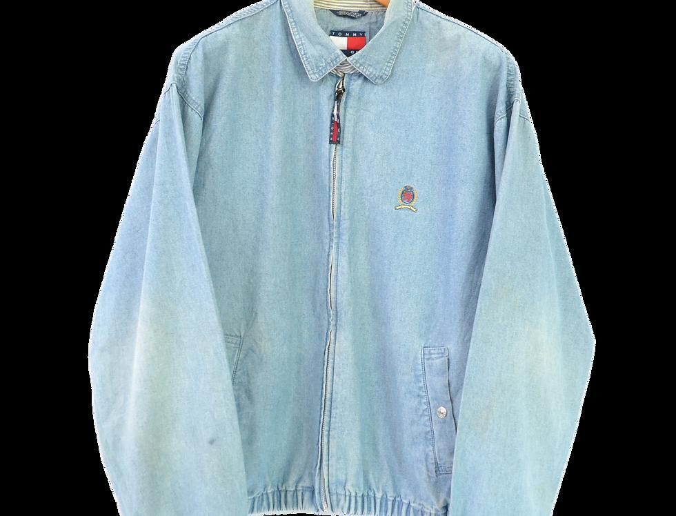 Tommy Hilfiger 1985 Lion's Crest Emblem Harrington Jacket  Washed Denim M