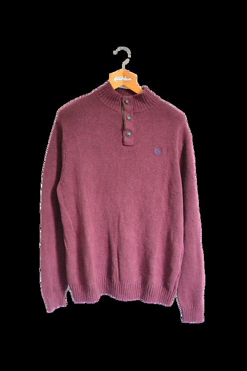 Ralph Lauren Chaps Knitted Sweatshirt Bordeaux L