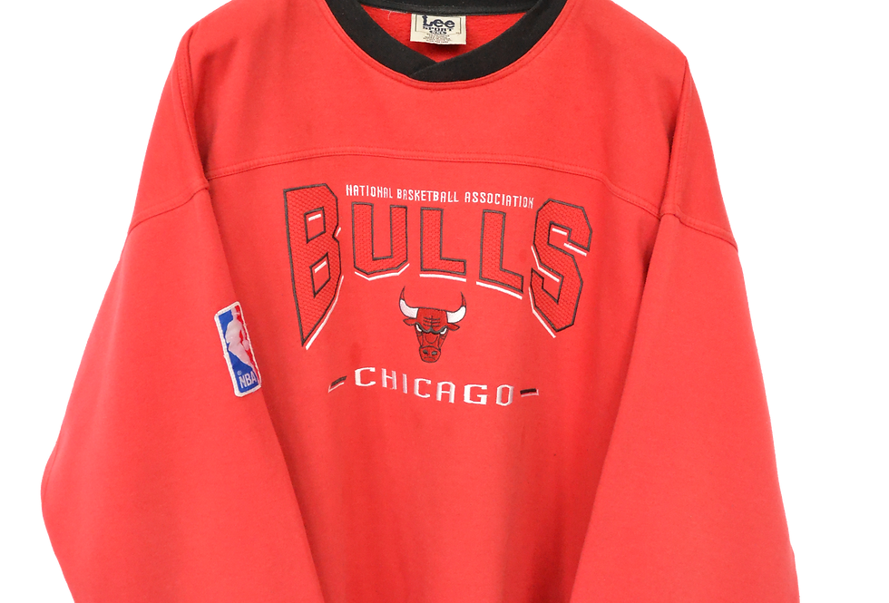 Original 1998 Chicago Bulls NBA Spellout Crewneck XXXL