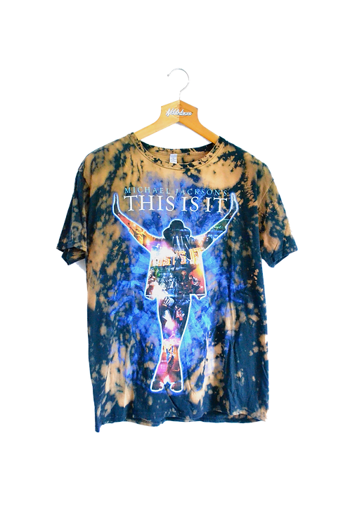 Michael Jackson This is It Drip-bleached Tee L