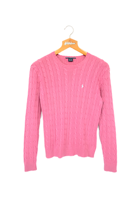 Ralph Lauren Cable Knitted Sweatshirt Pink M