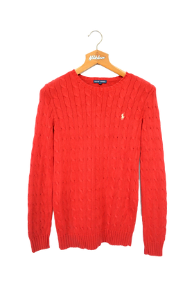 Ralph Lauren Cable Knitted Sweatshirt Red M