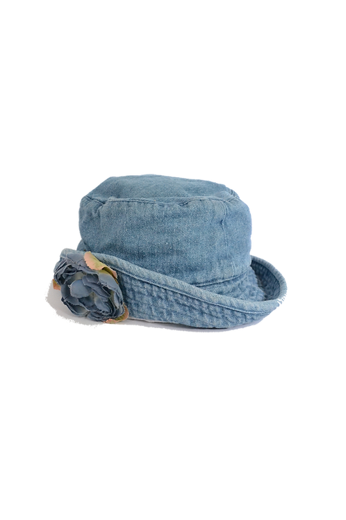 Denim Bucket Hat Flower