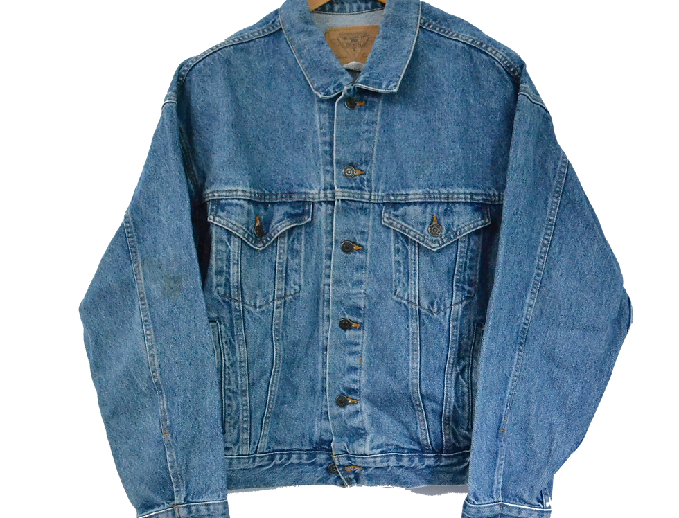 Hollywood Aurora Casino 90's Denim Jacket L