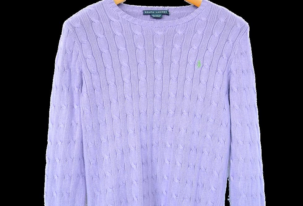 Ralph Lauren Knitted Sweatshirt Lilac M