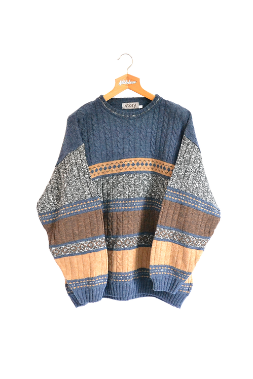 Sea-themed Knitted Jumper XXL