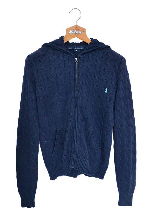 Ralph Lauren Cable Knitted Hooded Jacket M