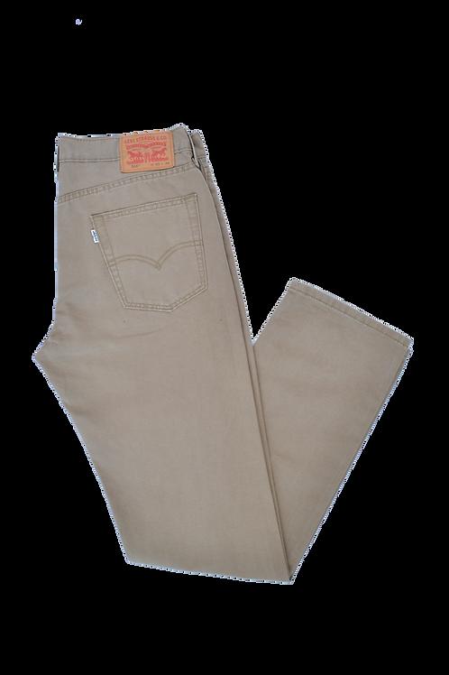 "Levi's 514 ""White Tab"" Beige Jeans 33"
