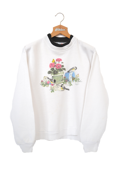 1992 Spring Birds Sweatshirt S